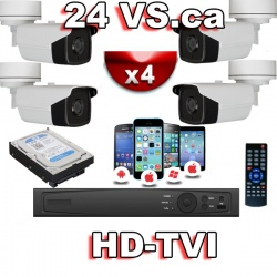 4 Channel outdoor surveillance system HD-TVI