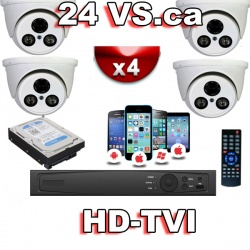 HD-TVI 4 channel surveillance system