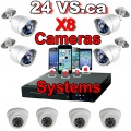 Complete 8 Channels  Surveillance Systems