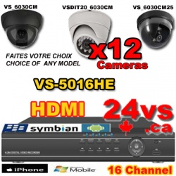 16 channels, Surveillance System, DIY, DVR, Kyt, Surveillance Cameras,