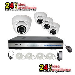 24vs 4 channel AHD Kyt surveillance cameras with 3.6 mm lens