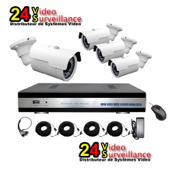24vs 4 channel AHD Kyt surveillance cameras outdoor WFIM