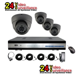 24vs 4 channel AHD Kyt surveillance cameras vandal proof DFIP