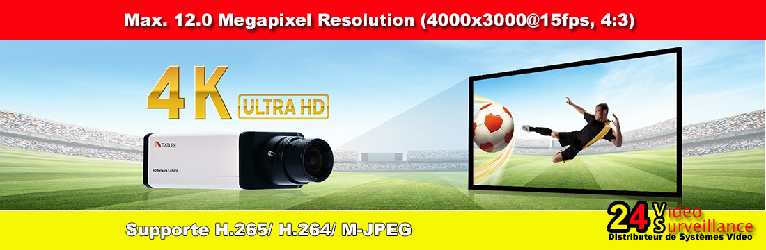 4K Ultra HD High resolution cameras